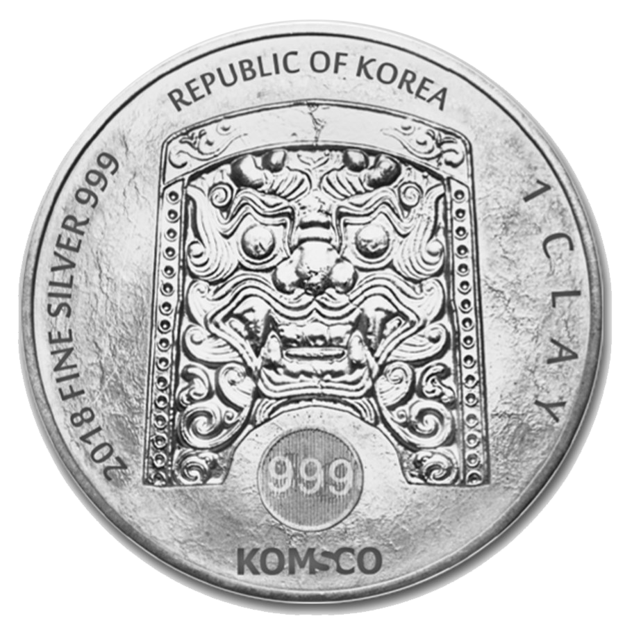 2018 South Korea ZI:SIN Canis 1oz Silver Round (Image 2)