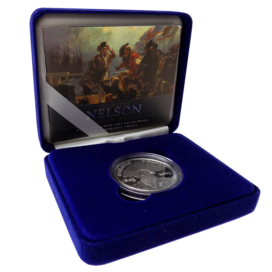 Pre-Owned 2005 UK Horatio Nelson Silver Proof Crown - VAT Free
