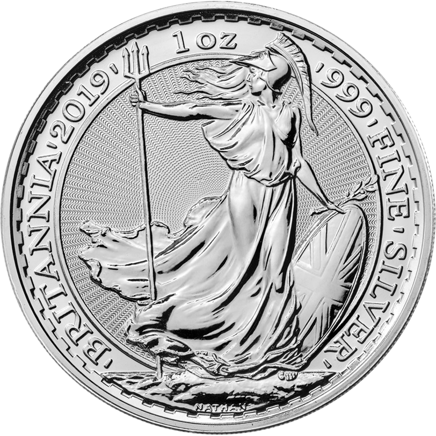 2019 UK Britannia 1oz Silver Coin (Image 1)