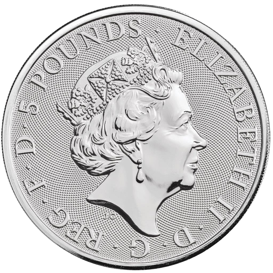 2019 UK Queen's Beasts The Falcon of the Plantagenets 2oz Silver Coin (Image 2)