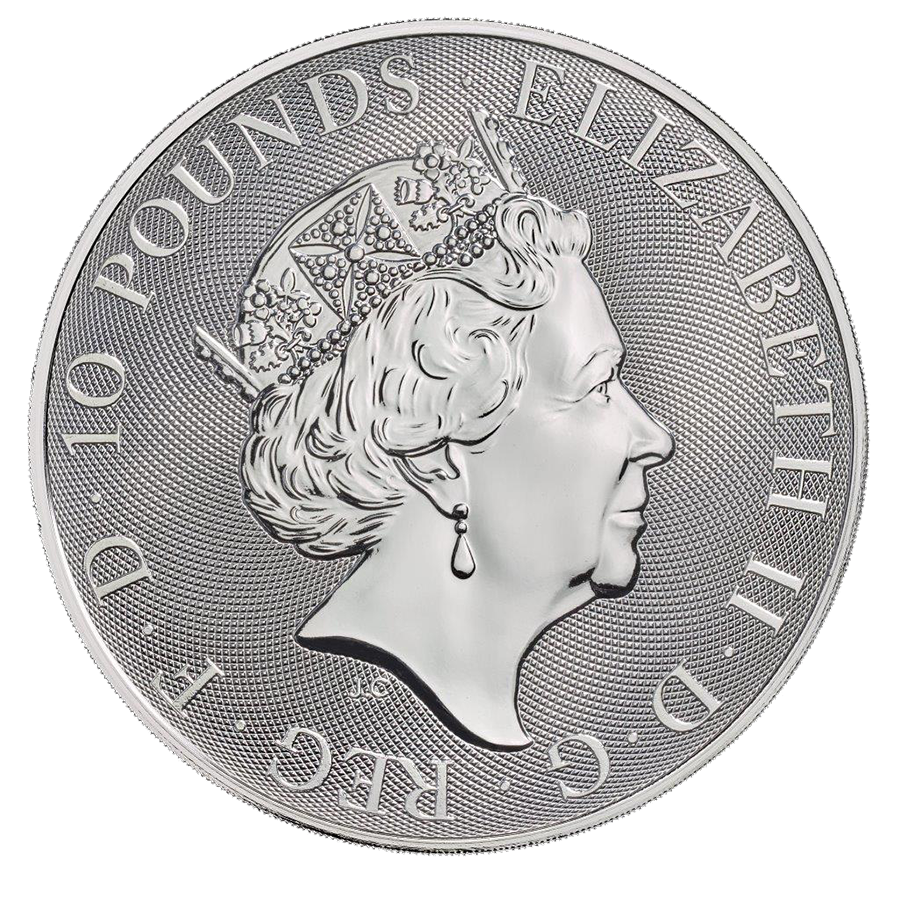 2019 UK Queen's Beasts The Unicorn 10oz Silver Coin (Image 2)