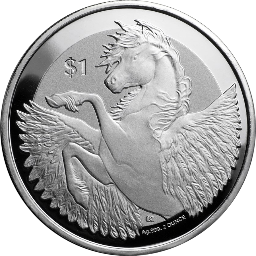 2018 British Virgin Islands Pegasus 2oz Silver Coin