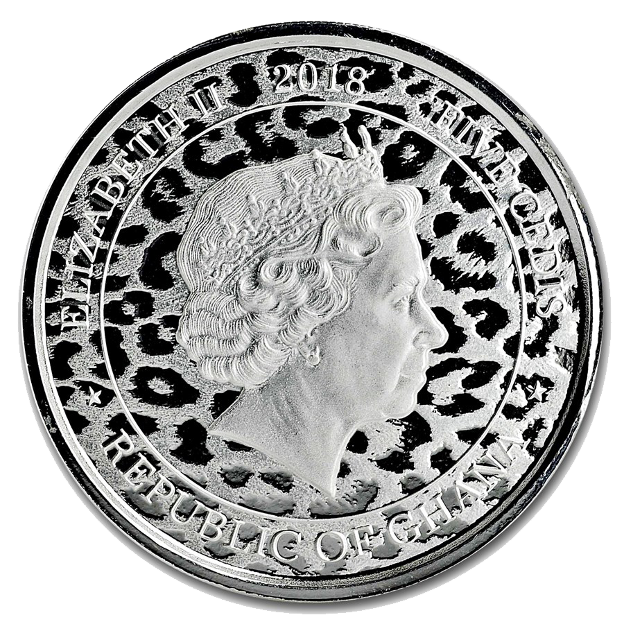 2018 Republic of Ghana African Leopard 1oz Silver Coin (Image 2)