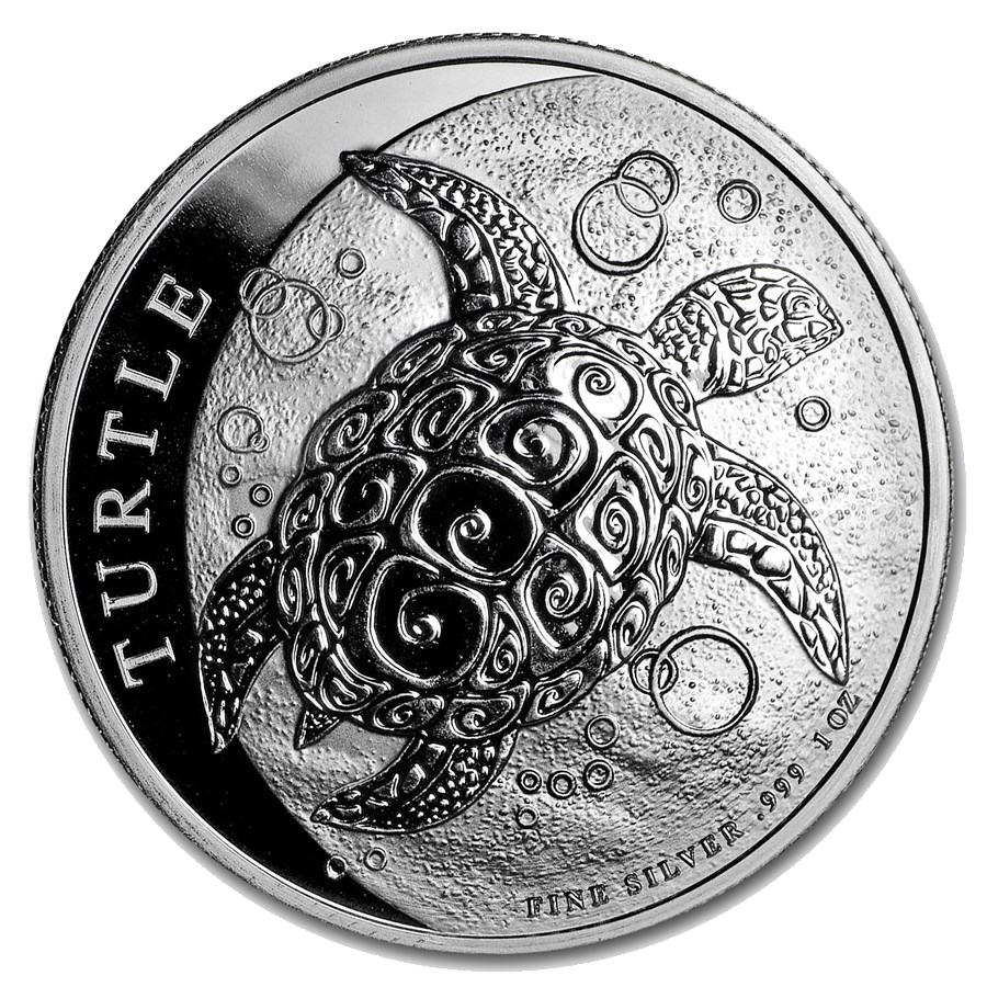 2019 Niue Hawksbill Turtle 1oz Silver Coin