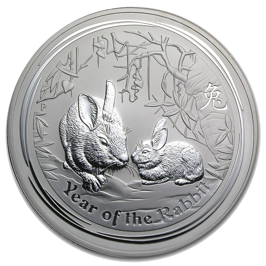 Pre-Owned 2011 Australian Rabbit 1kg Silver Coin - VAT Free