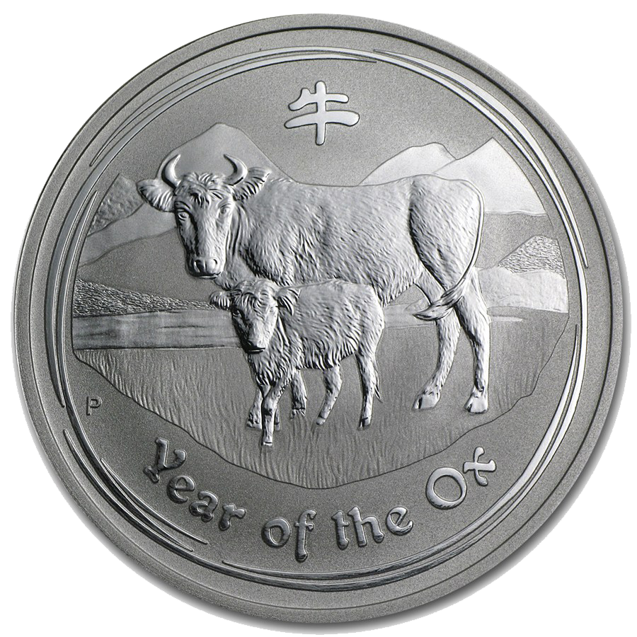 Pre-Owned 2009 Australian Lunar Ox 1kg Silver Coin - VAT Free (Image 1)