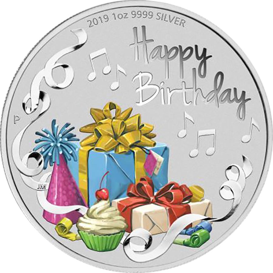 2019 Australian Happy Birthday 1oz Silver Coin