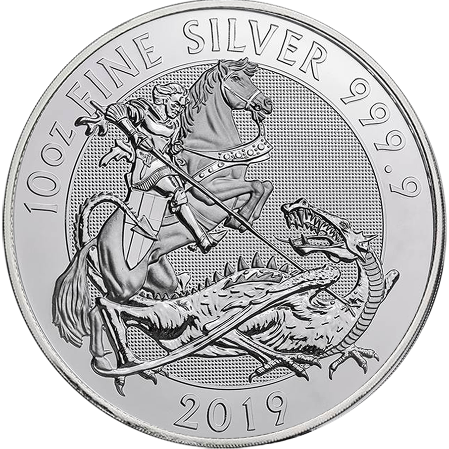 2019 Royal Mint Valiant 10oz Silver Coin (Image 1)
