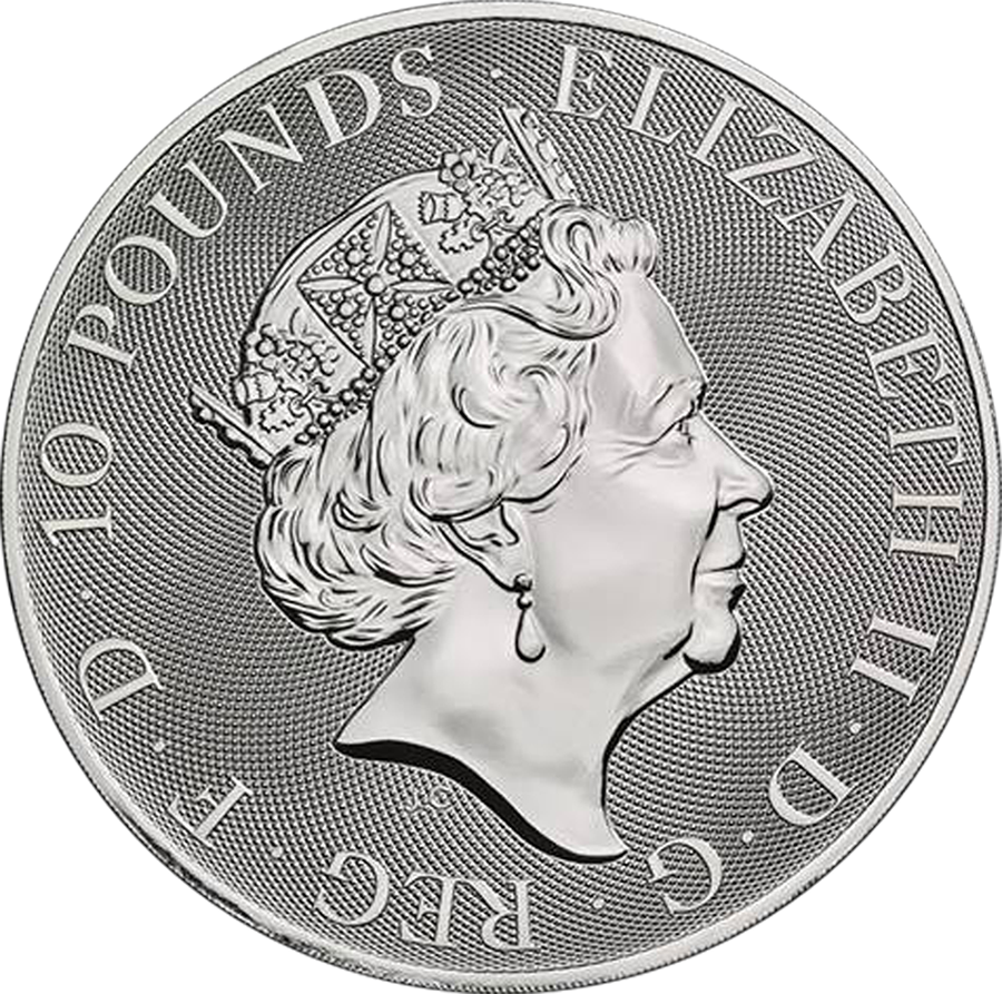 2019 Royal Mint Valiant 10oz Silver Coin (Image 2)