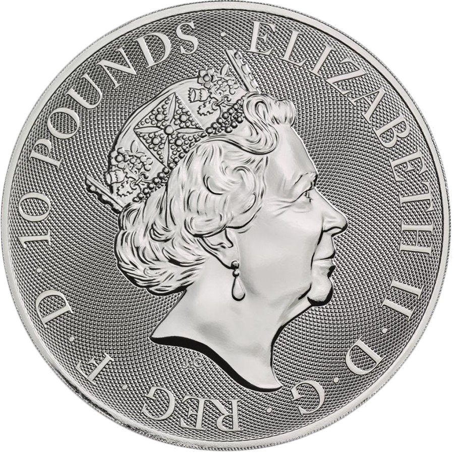 2019 UK Queen's Beasts Black Bull of Clarence 10oz Silver Coin (Image 2)
