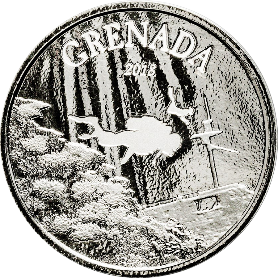 2018 Grenada Diving Paradise 1oz Silver Coin