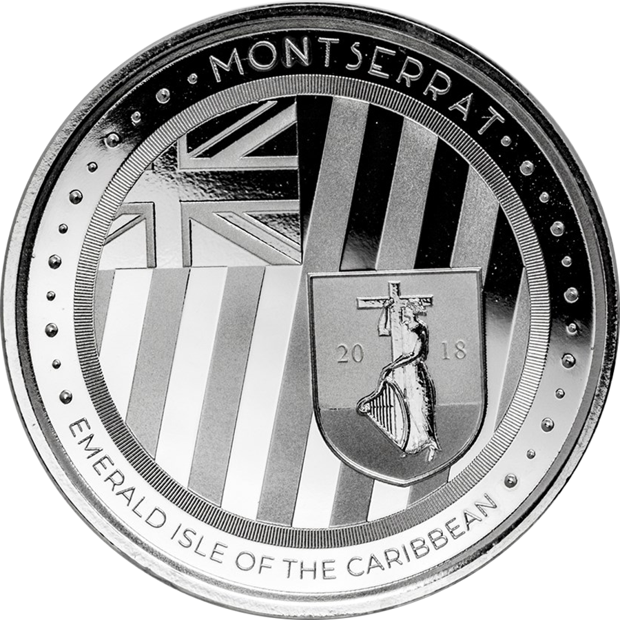 2018 Montserrat Emerald Isle of the Caribbean 1oz Silver Coin