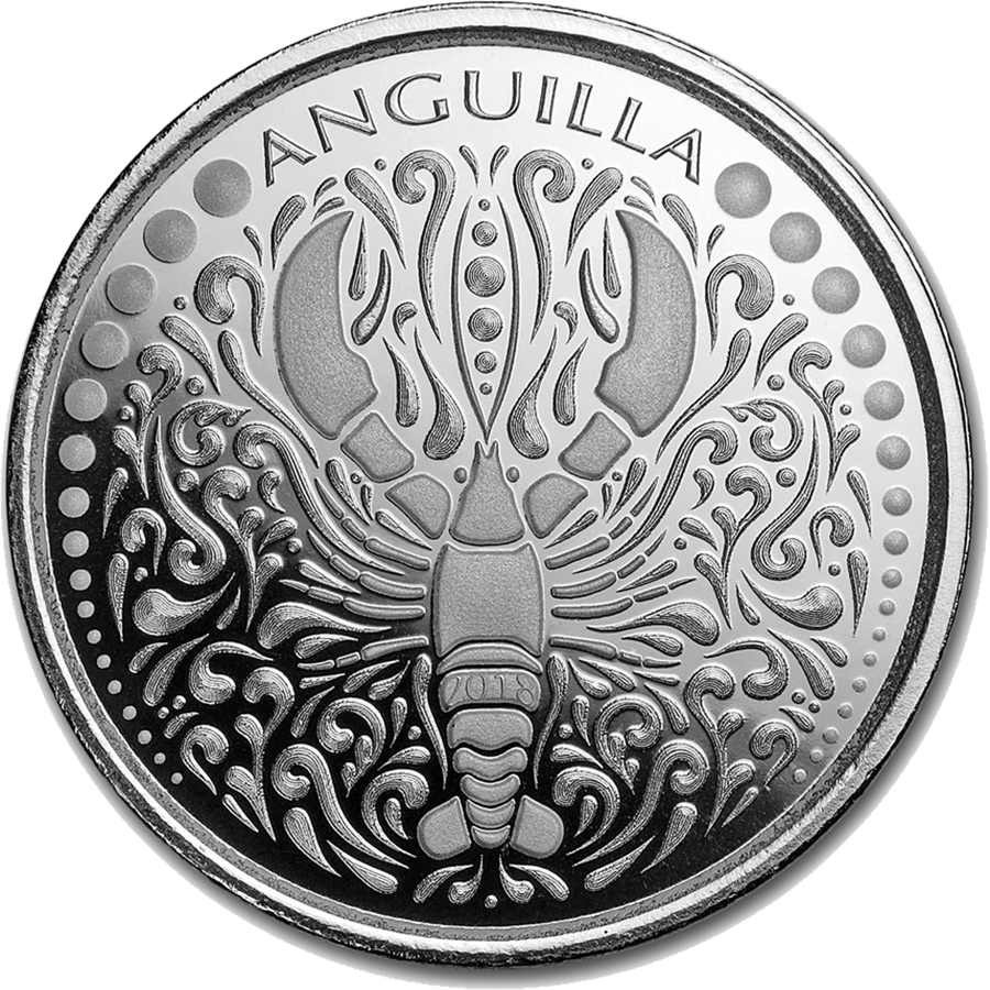 2018 Anguilla Lobster 1oz Silver Coin