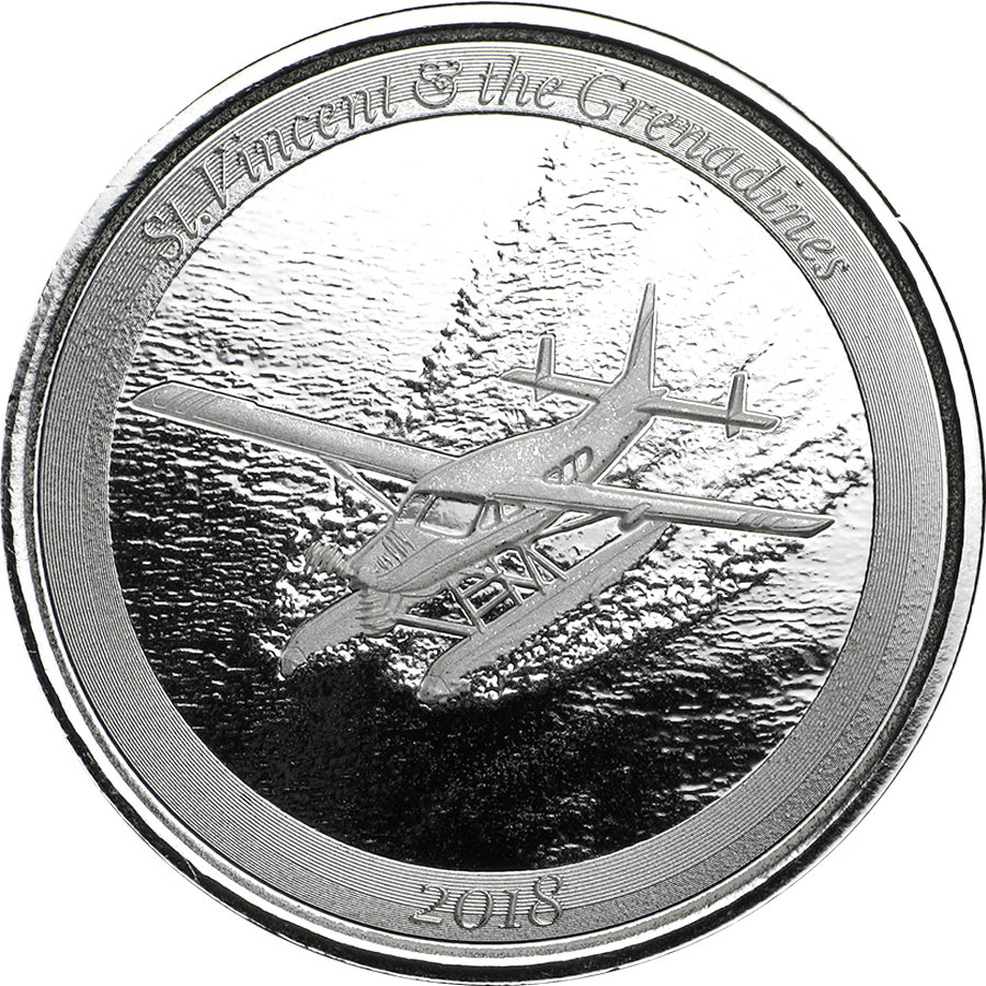 2018 St. Vincent & The Grenadines Seaplane 1oz Silver Coin