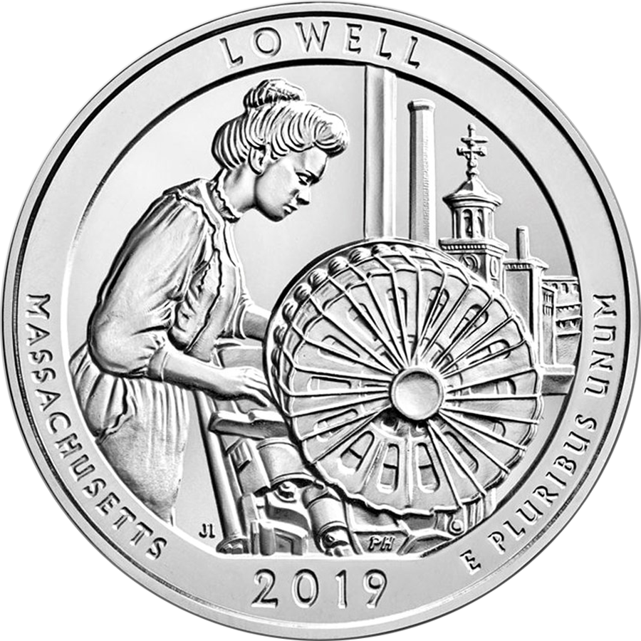 2019 ATB Lowell National Historical Park 5oz Silver Coin