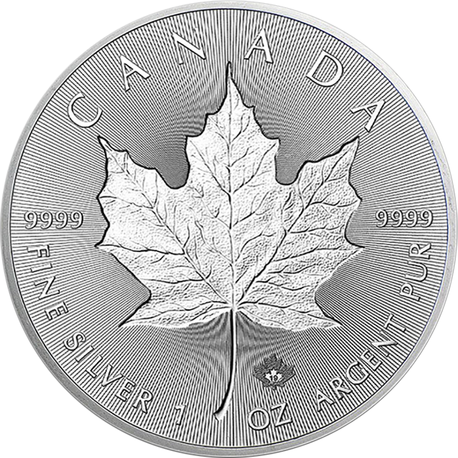2019 Canadian Incuse Maple Leaf 1oz Silver Coin (Image 1)
