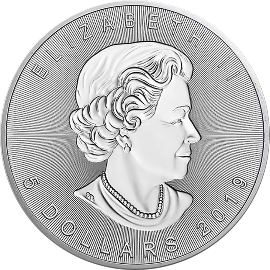 2019 Canadian Incuse Maple Leaf 1oz Silver Coin (Image 2)
