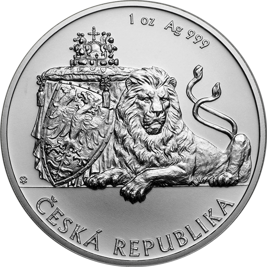 2019 Niue Czech Lion 1oz Silver Coin