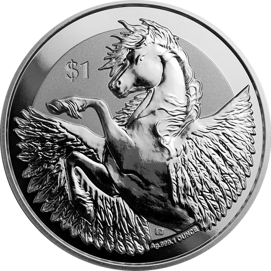 2019 British Virgin Islands Reverse Pegasus 1oz Silver Coin