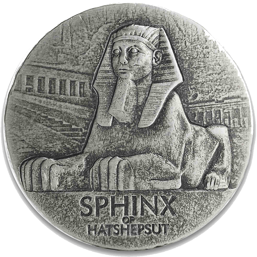 2019 Egyptian Relics Sphinx of Hatshepsut 5oz Silver Coin