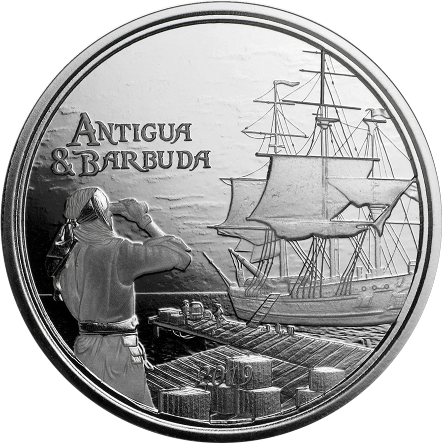 2019 Antigua & Barbuda 1oz Silver Rum Runner Coin