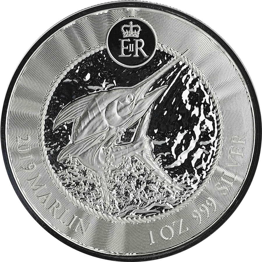 2019 Cayman Islands Marlin 1oz Silver Coin (Image 1)