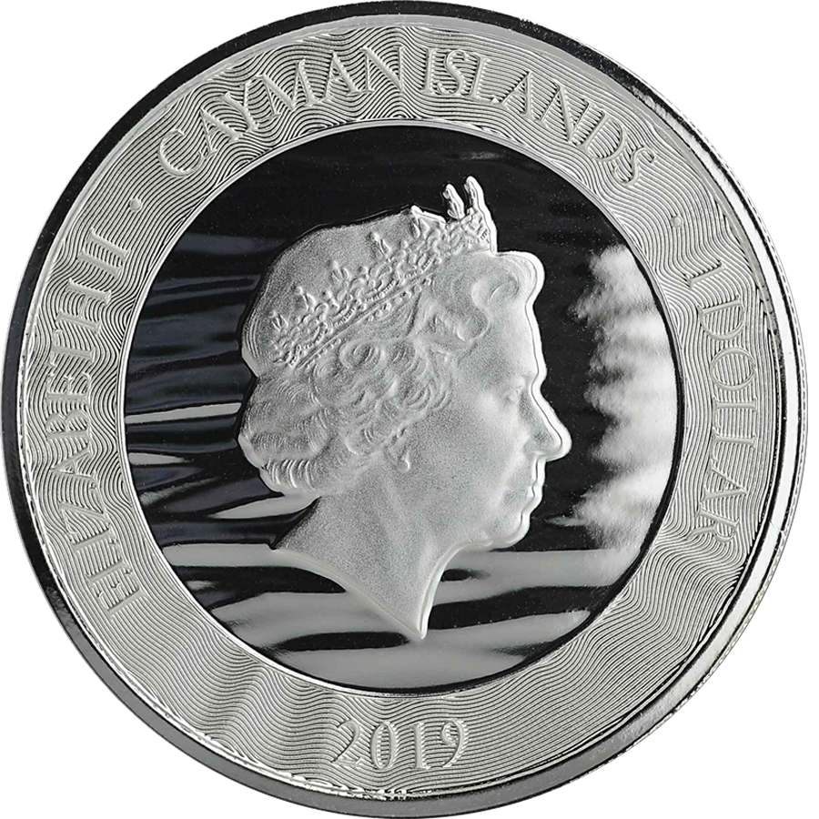 2019 Cayman Islands Marlin 1oz Silver Coin (Image 2)