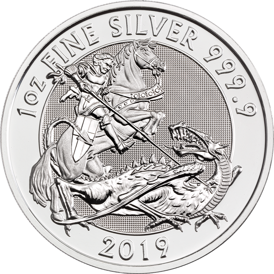 2019 Royal Mint Valiant 1oz Silver Coin (Image 1)