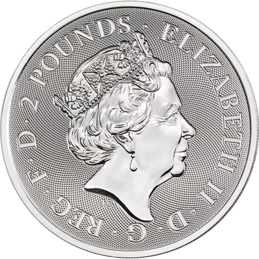 2019 Royal Mint Valiant 1oz Silver Coin (Image 2)