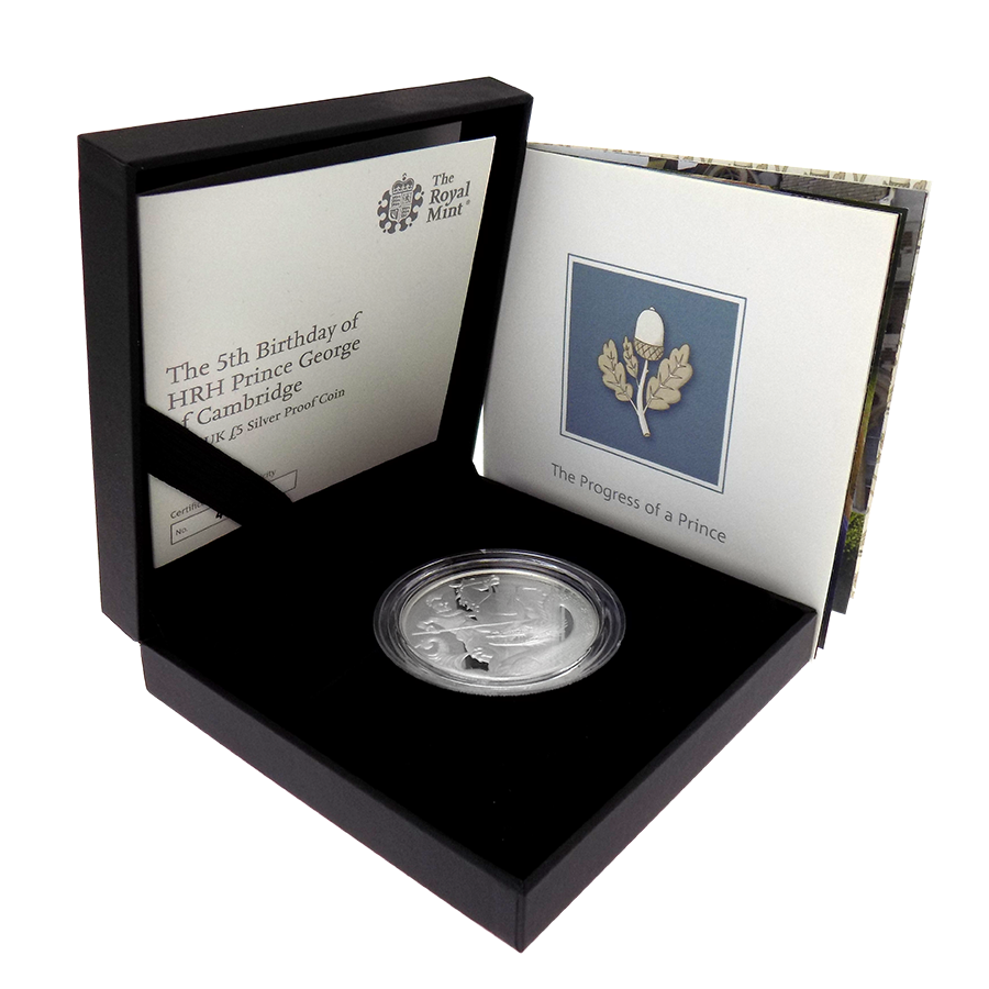 Pre-Owned 2018 UK 5th Birthday Of Prince George Of Cambridge £5 Proof Silver Coin - VAT Free