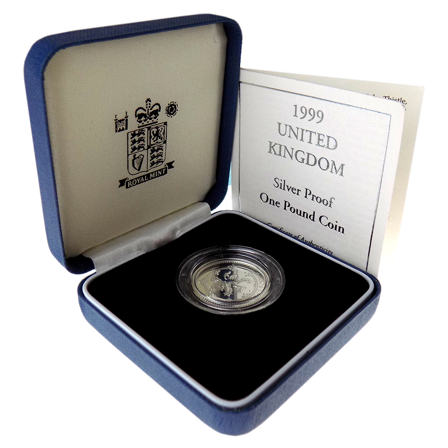 Pre-Owned 1999 UK £1 Silver Proof Coin - VAT Free