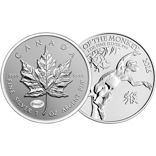 Pre-Owned 1oz Silver Coins - VAT Free