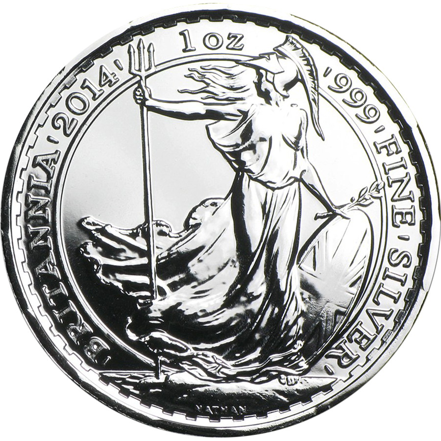 Pre-Owned 2014 UK Britannia Privy Horse 1oz Silver Coin - VAT Free (Image 1)