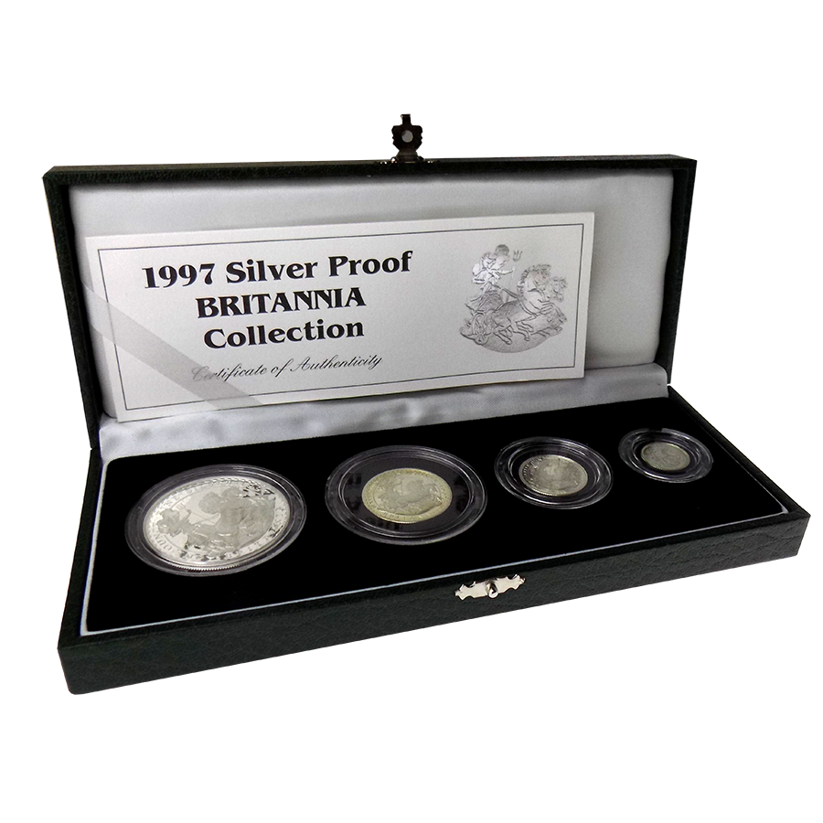 Pre-Owned 1997 UK Britannia Proof 4 Silver Coin Collection - VAT Free (Image 1)