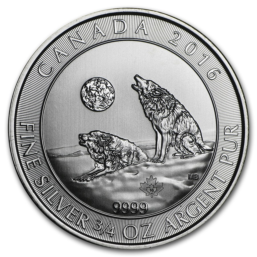 2016 Canadian Howling Wolves 3 4 Oz Silver Coin