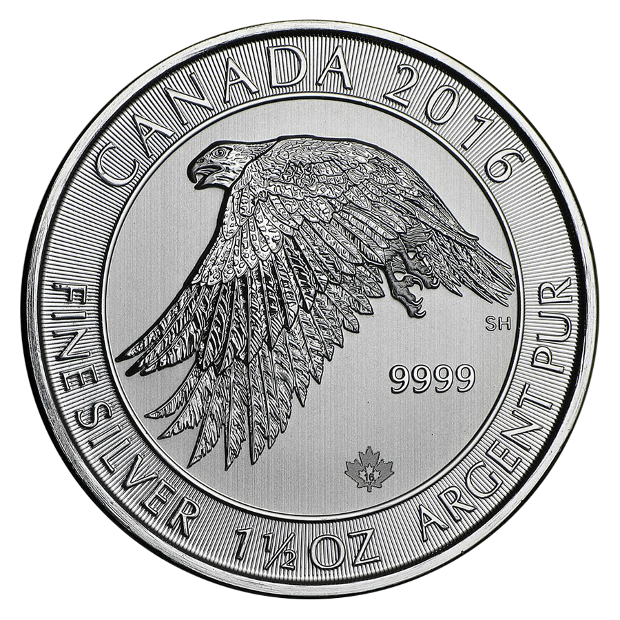 2016 Canadian Snow Falcon 1 5oz Silver Coin Atkinsons