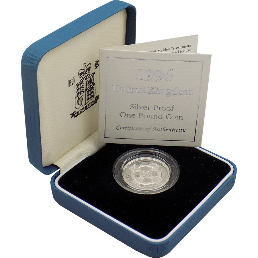 Pre-Owned 1996 UK Silver Proof £1 Coin - VAT Free