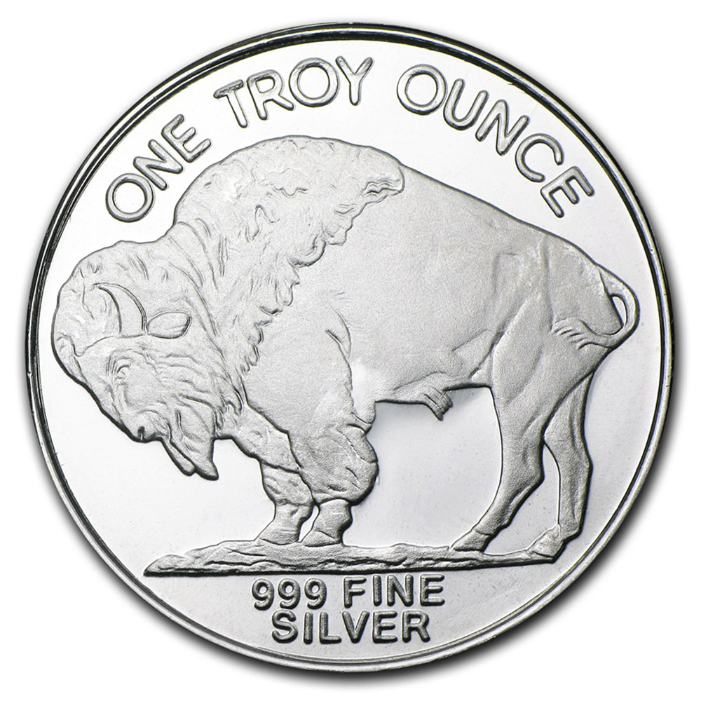 Pre-Owned USA Buffalo 1oz Silver Round - VAT Free