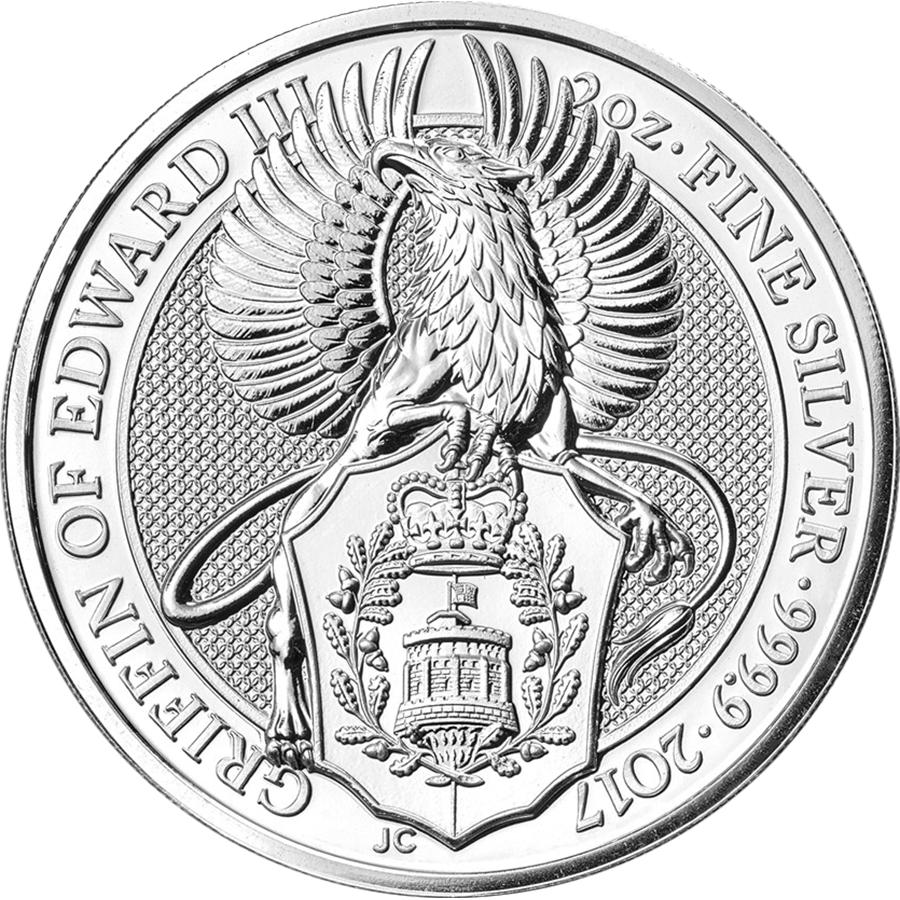 2017 UK Queen's Beasts The Griffin 2oz Silver Coin