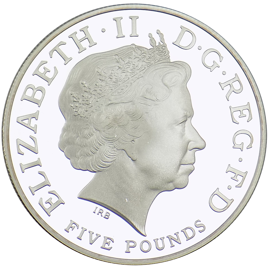 Pre-Owned 2014 UK First Birthday of Prince George £5 Silver Coin - VAT Free (Image 3)