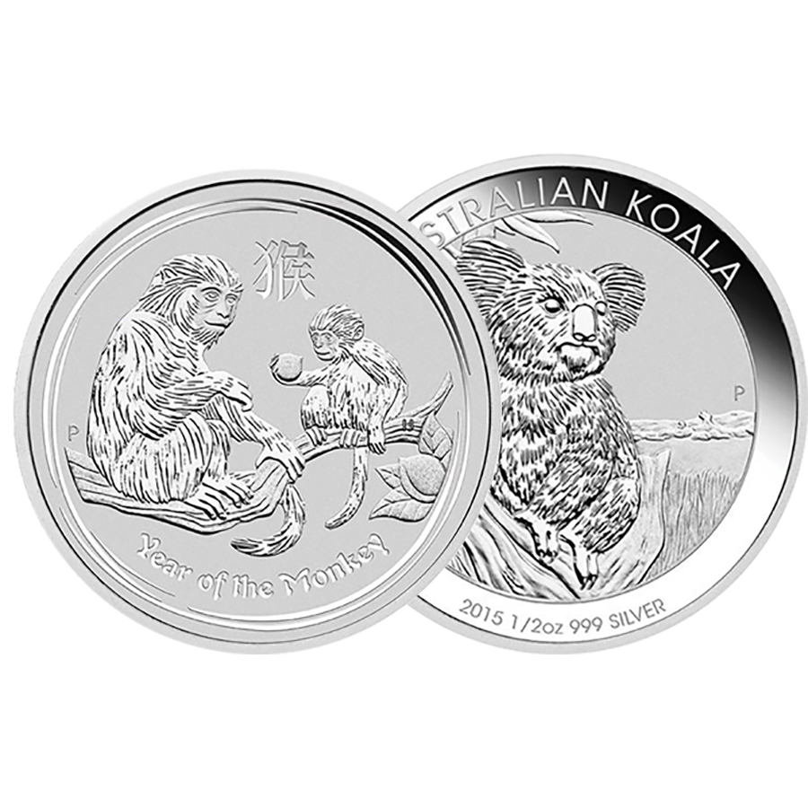1/2oz Silver Coin - Mixed Coins