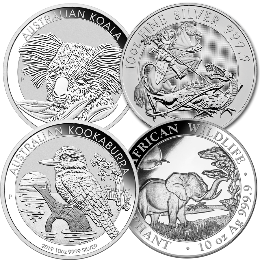 10oz Silver Coin - Mixed Coins