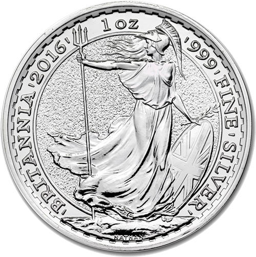 Post 2012 UK Britannia 1oz Silver Coin