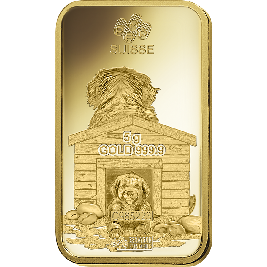 PAMP 2018 Lunar Dog 5g Gold Bar (Image 4)