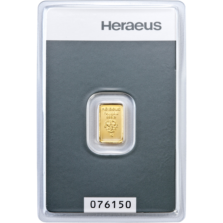 Heraeus 1g Gold Bar