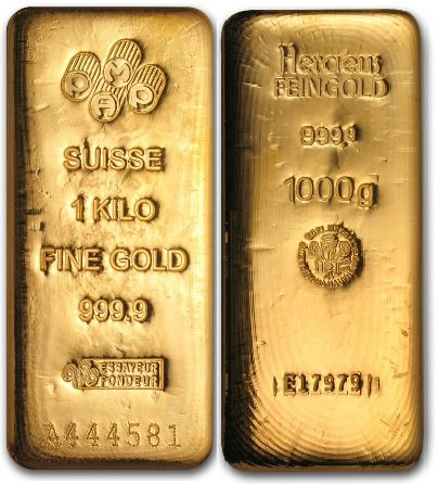 1Kg Gold Bar - Certificated