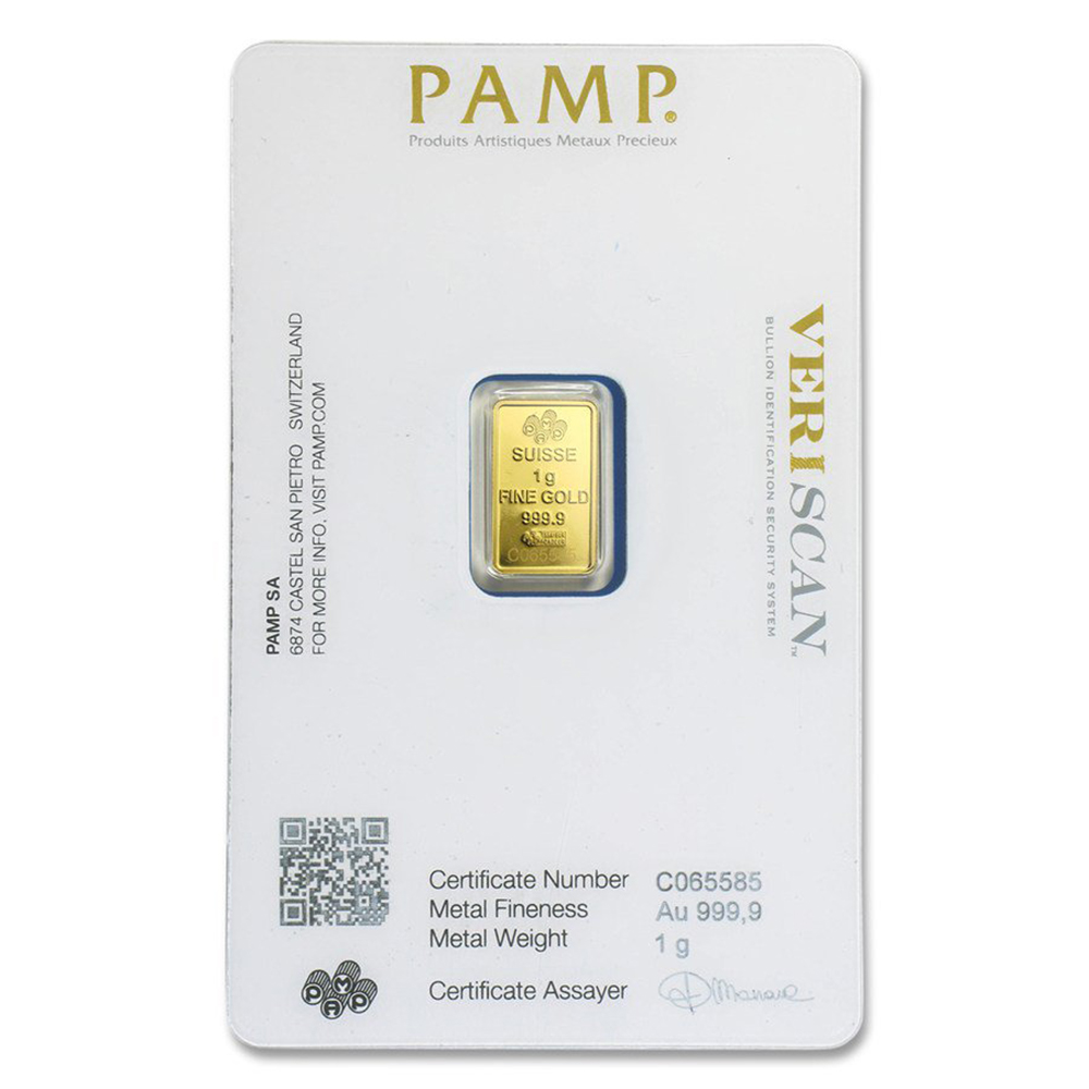 PAMP Suisse Fortuna 1g Gold Bar (Image 2)