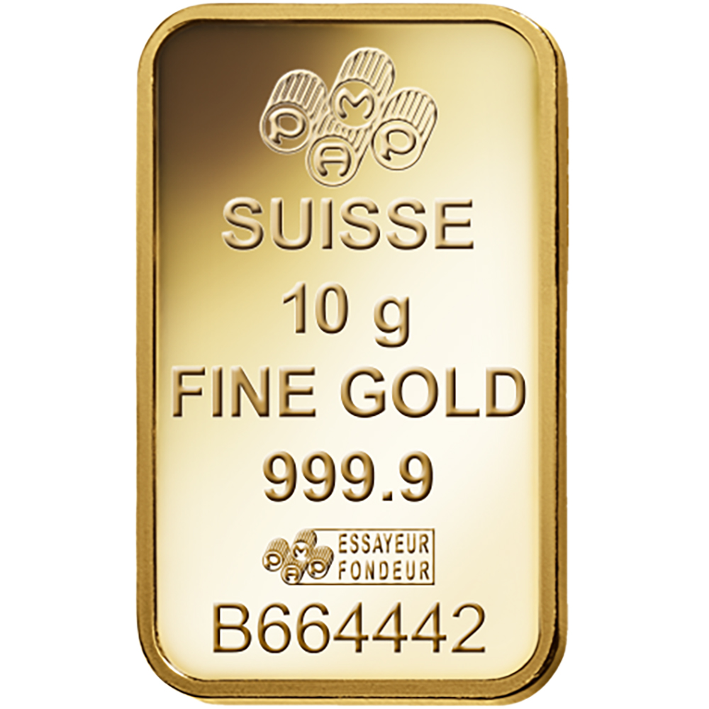 Pamp Suisse Fortuna 10g Gold Bar Gold Bullion Bars