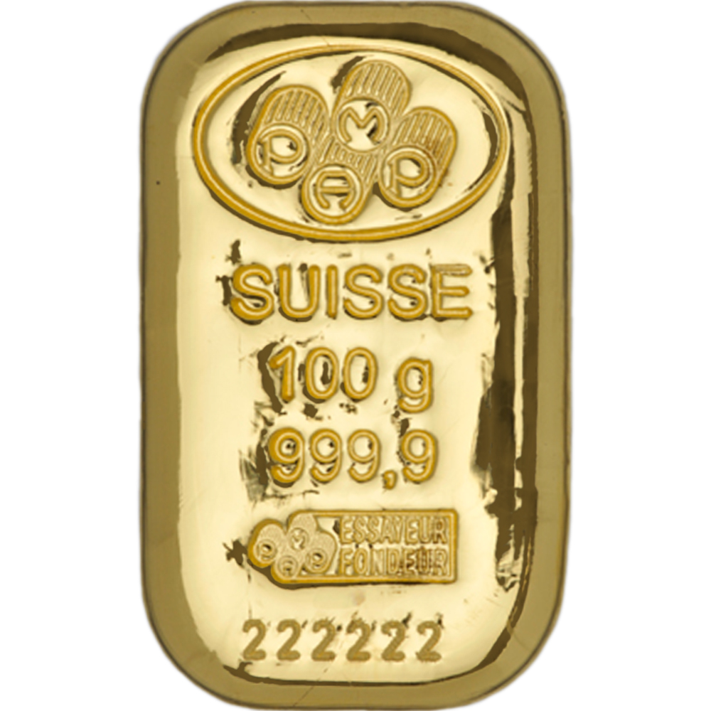 Gold 100g Bars At Superb Prices Pamp Suisse 100g Cast