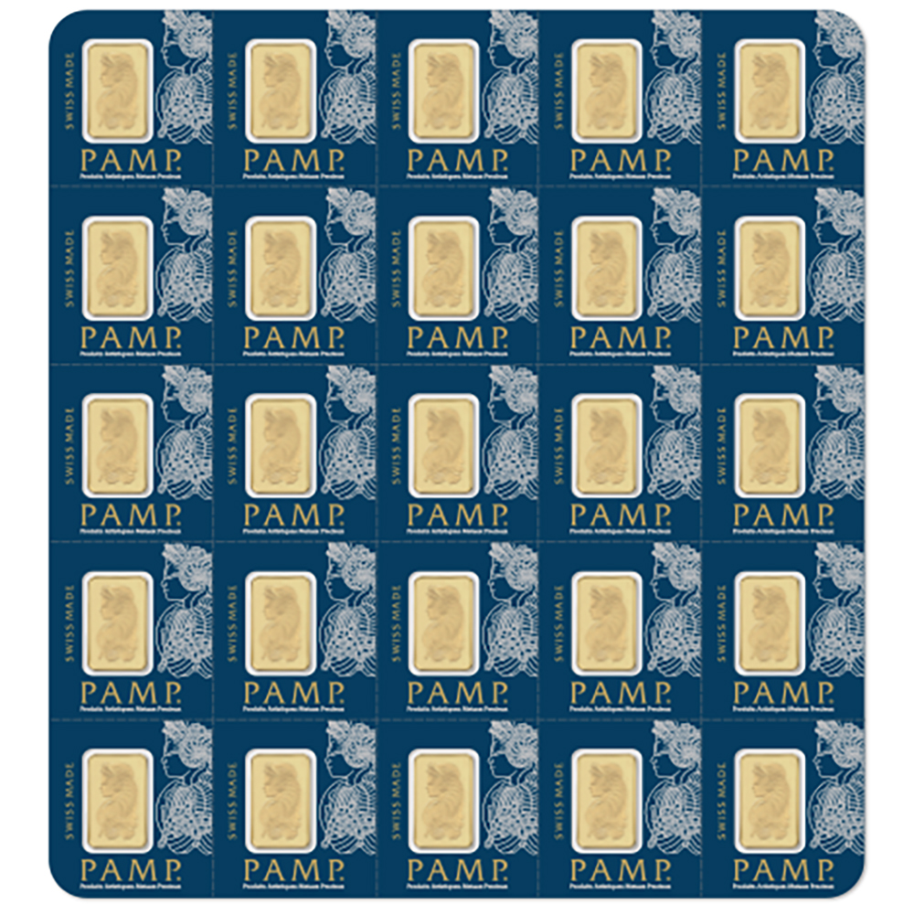 PAMP Suisse 25x 1g Multigram Gold Bar